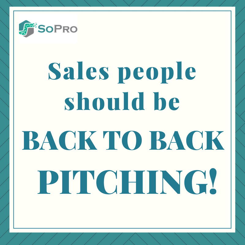 Salespeople should be back to back pitching: it's what they love and it's what they're good at. The time has come to unhitch prospecting from the sales team and to let people who love it, do it. And when it's handed over to people who specialise in it, guess what, we'll do it twice as fast for half the cost… and I can guarantee you'll more than halve your cost again.