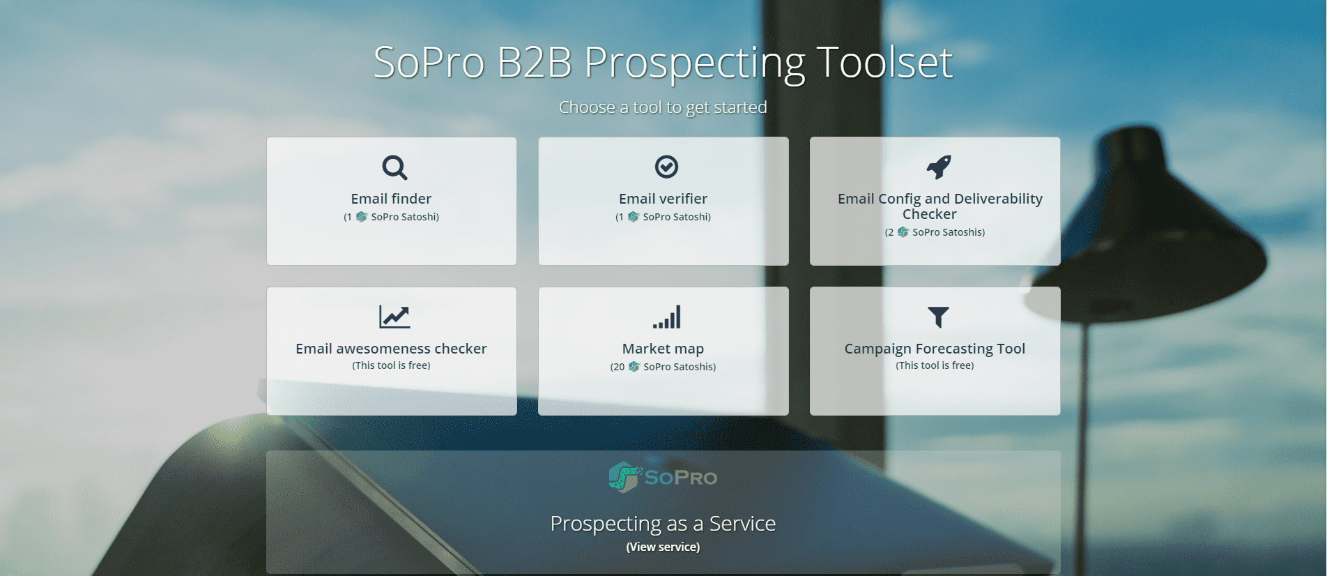 SoPro just launched the B2B Prospecting Power Toolset – and