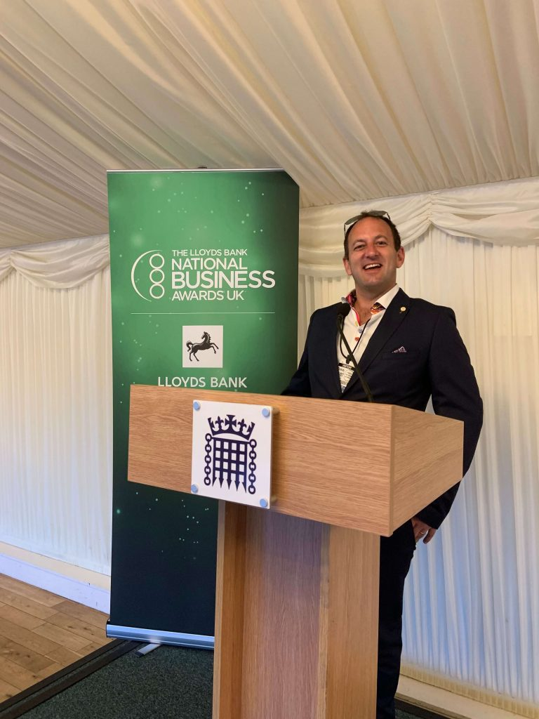 Ryan Welmans at The Lloyds bank national business awards UK