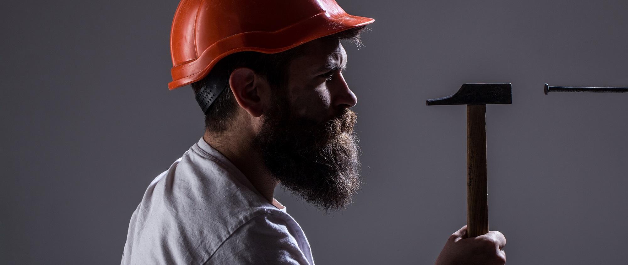 Handyman, Hammer, Man Builder, Industry, Technology, Builder Con