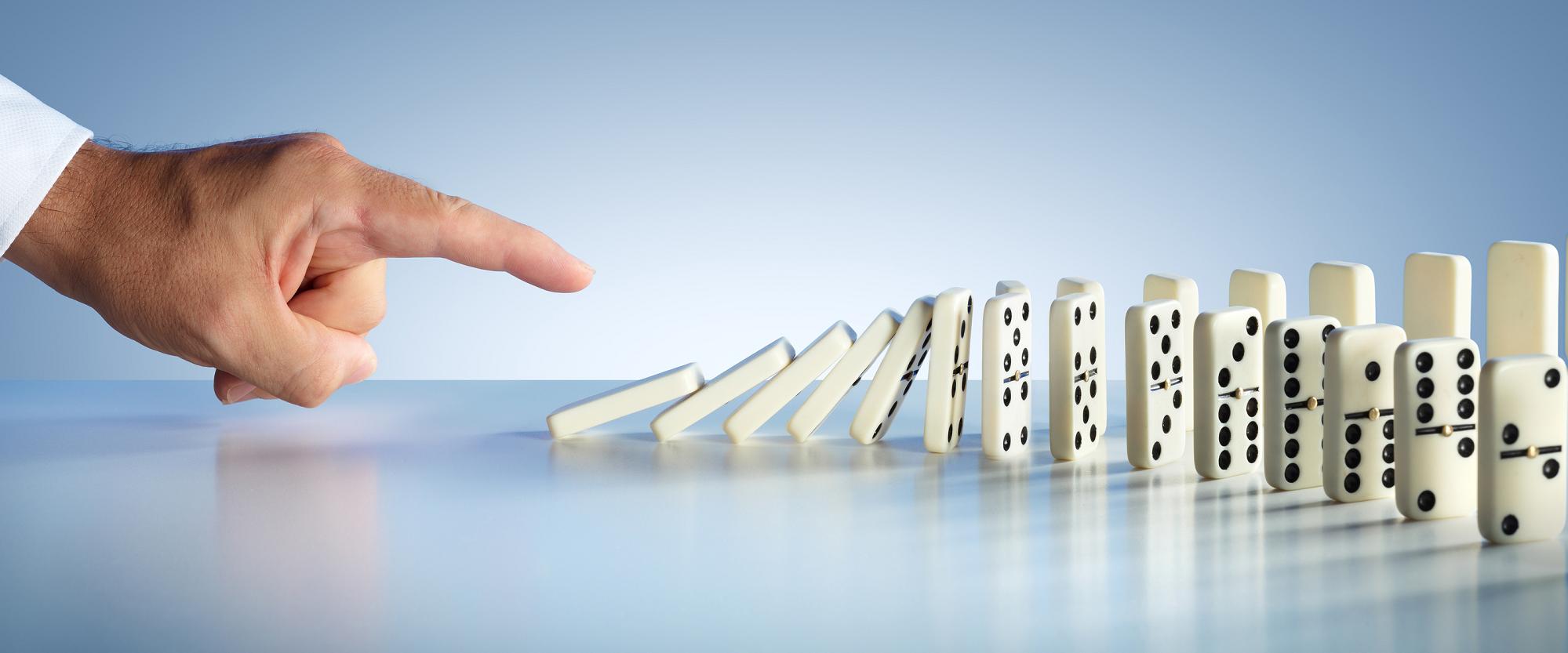 Domino Effect Blocks Collapse