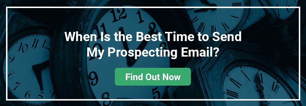 When Is the Best Time to Send My Prospecting Email? Banner