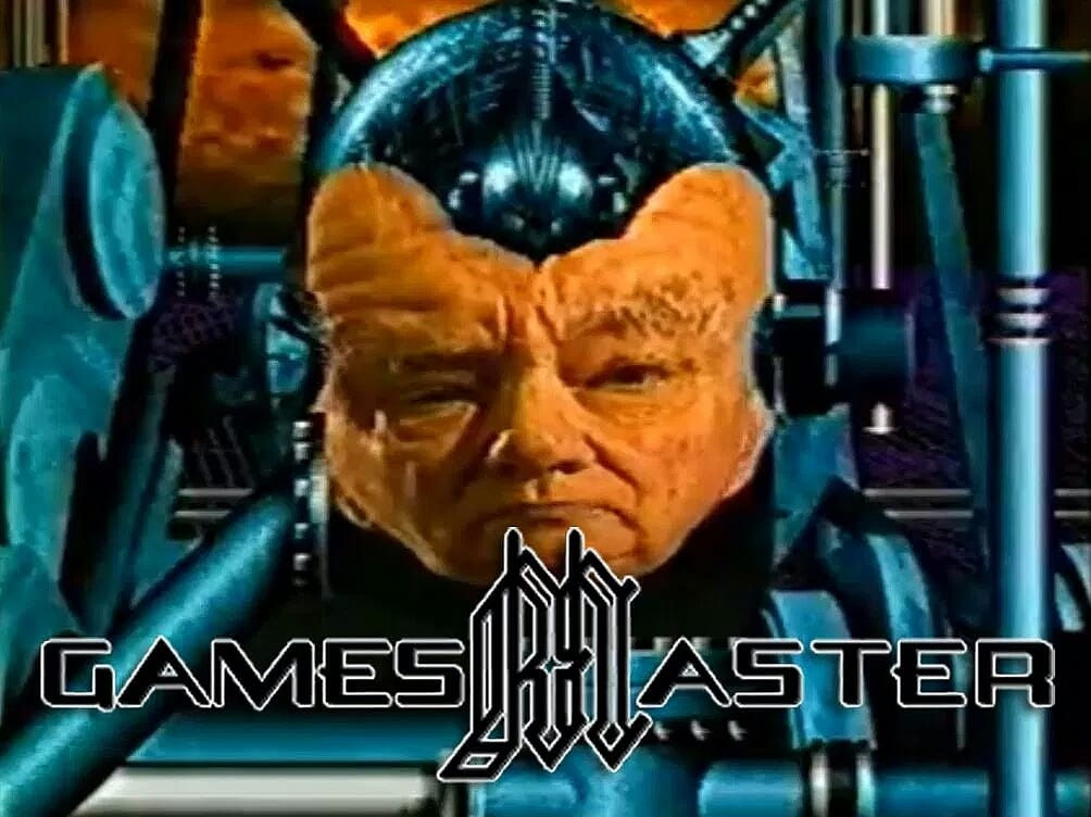Patrick Moore as Gamesmaster, who gave video game tips in the 90s