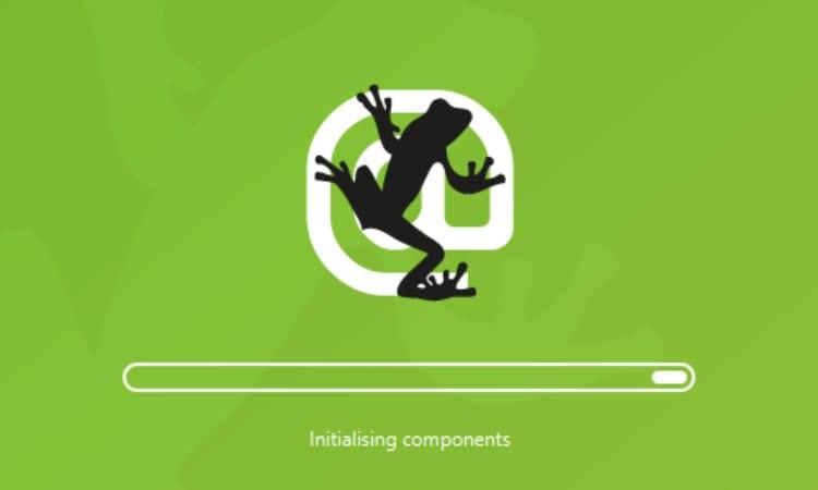 Screaming Frog loading screen